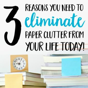 Sorting through paper piles and clutter can be overwhelming, but living surrounded by paper clutter is even worse! These are 3 reasons you need to eliminate paper clutter from your life today a plan to help you get started.