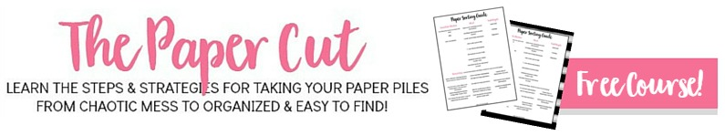 Sorting through paper piles and clutter can be overwhelming, but it doesn't have to be. Join the free 7 day e-course and learn the steps to take your paper piles from messy to organized and easy to find!