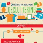 This free printable decluttering guide will walk you through the questions you need to be asking yourself when you declutter. Hang it on a wall of the room you're working in or just keep it next to you, and it can be your decluttering buddy and motivator to clear the chaos and junk and finally be happy in your home.