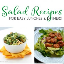 Salad Recipes for Easy Lunches and Dinners