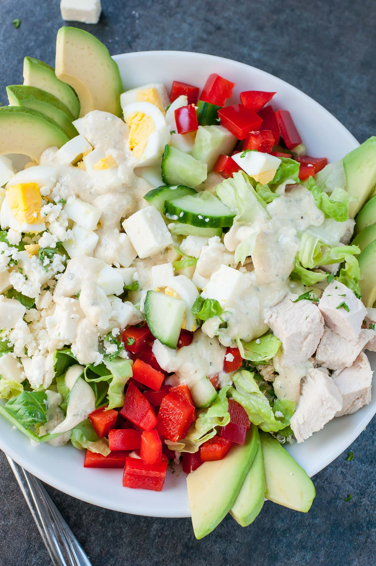 Salad recipes for easy dinners! The perfect solution for hot summer nights or when you're just too tired to cook. Also great for parties and bbq nights. Customize with your own ingredients like chicken, egg, pasta, fruit, or your favorite salad dressing. Healthy and delicious... it doesn't get better than that!
