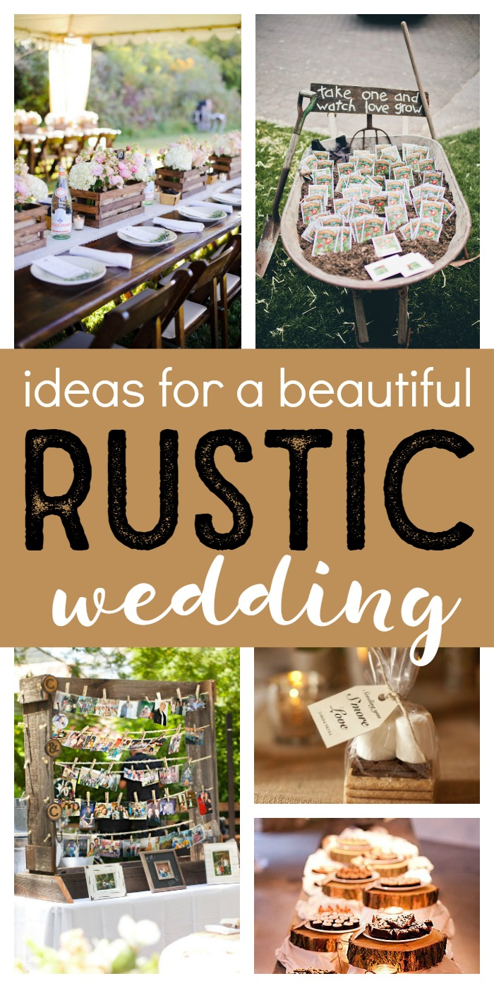 LOVE these gorgeous rustic wedding ideas! There's something so elegant and romantic about the mix of wood, burlap, lace, and small twinkling lights. Wedding perfection!