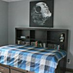 I love this Star Wars bedroom she created for her teenage son! The decor is modern and simple. So many great design ideas!