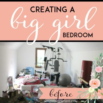 Watch this long, awkward, horribly disorganized and cluttered room become a beautiful bedroom for a little girl.