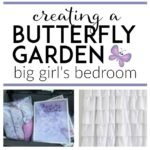 LOVE these ideas for creating a cohesive theme and functional layout for a a big girl bedroom. Adorable room makeover ideas for incorporating storage in an awkward room. The pink and purple bedding, beautiful daybed, and whimsical theme are going to make this one impressive diy transformation!