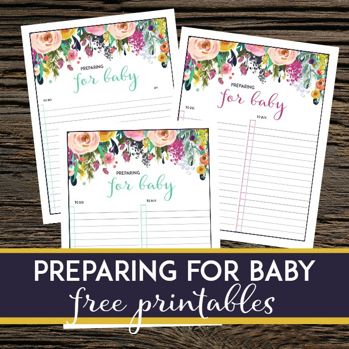 I love these preparing for baby free printables! Such a great way to keep track of what you need to do and buy before baby's due date and arrival.