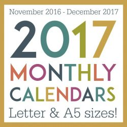 Ultimate Planner Giveaway & Free Printable 2017 Monthly Calendars (new A5 size!)