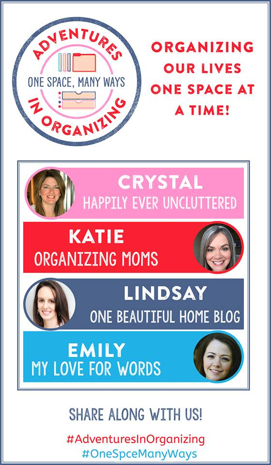 Such a great series! See how four different organizing bloggers handle organizing their own homes and spaces. So many great ideas, and you can join in on the fun! Adventures in Organizing | One Space Many Ways