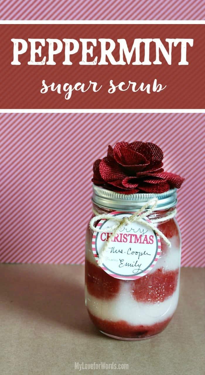 Diy Peppermint Sugar Scrub Recipe Free Printable Christmas