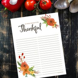 Reasons to Be Thankful Free Printable & A Giveaway!