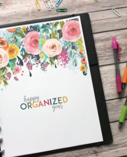 Happy Organized Year 2018 Planner