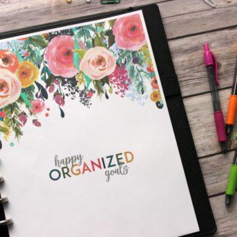 Happy Organized Goals