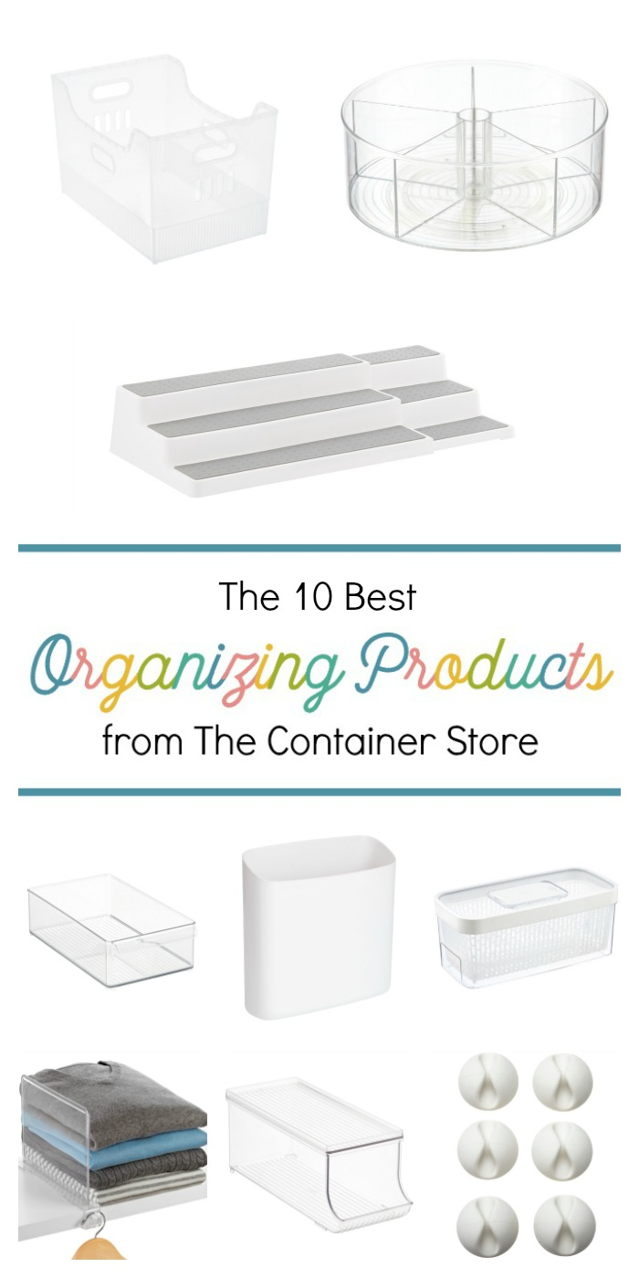 Whether you're looking to organize your kitchen, pantry, bedroom, bathroom, or finally tackling kids toys, the Container Store is sure to have products and ideas to help you out! These are the top ten best organizing products from the Container Store that are sure to help you declutter and put an end of chaos in your home once and for all.