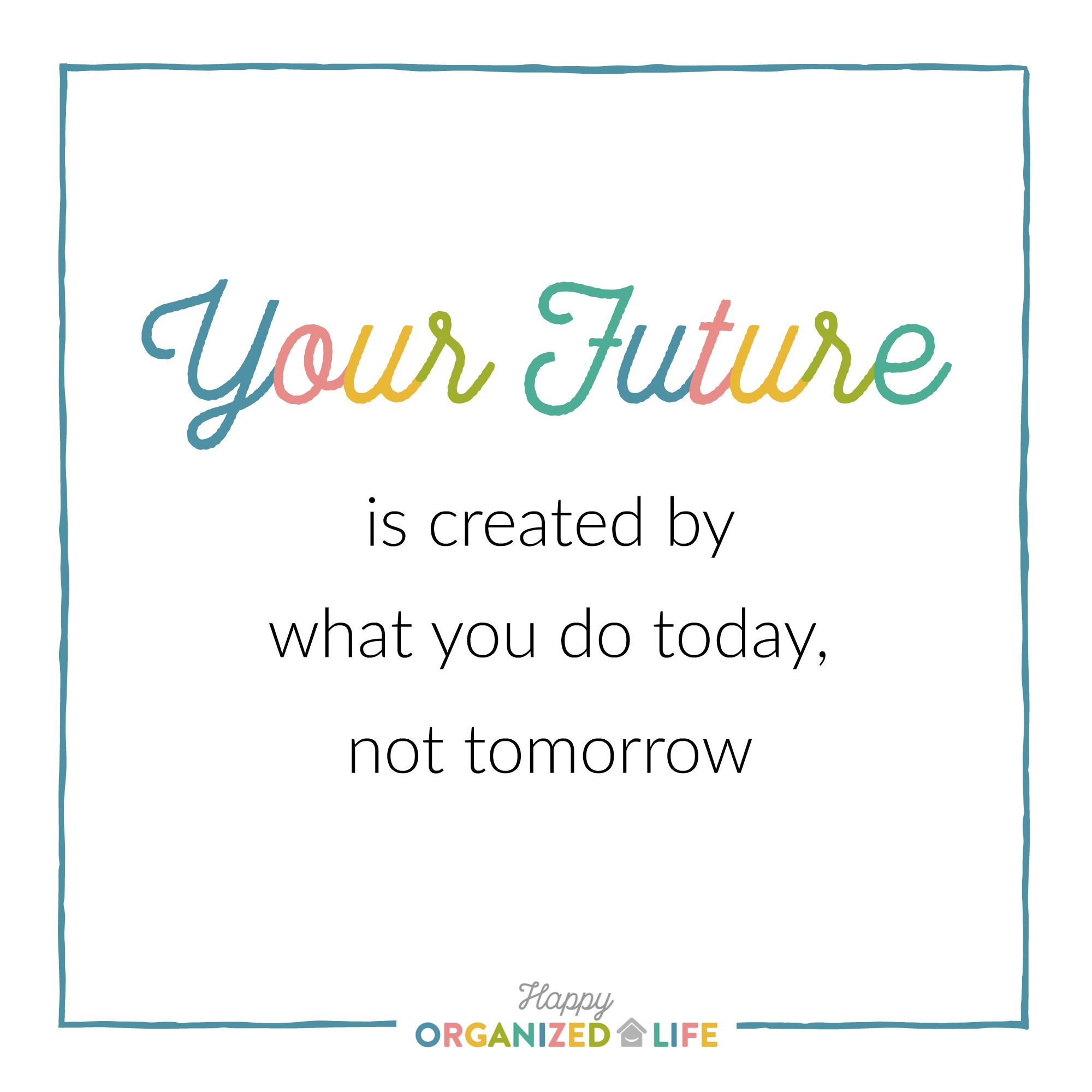 Today's task is all about making our calendars work for us. We're going to clear the clutter from our schedules so we have more time for the things that are important to us. After all, having a packed schedule is just another way of procrastinating.