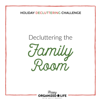 Decluttering the Family Room