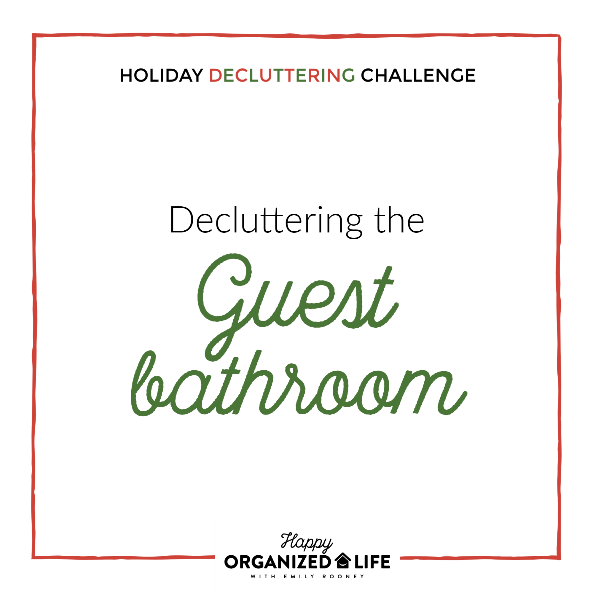 One of the most important spaces to clean and organize for guests in the bathroom. No one wants to use a gross or cluttered restroom, especially in someone else's home! Here are a few questions to ask about your guest bathroom before hosting guests.