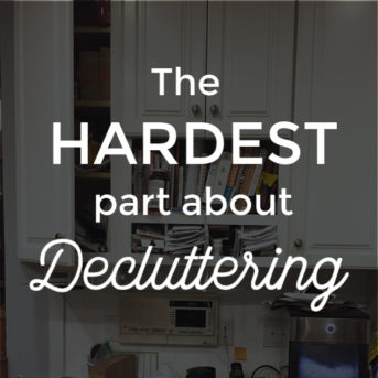 The hardest part about decluttering is dealing with the emotional landmines we accidentally find while going through our things. Sentimental clutter can be difficult to deal and part with, but working through those moments is an important step in clearing your space once and for all because ultimately clutter is just a symptom of something bigger going on. Clutter's about more than just the stuff.