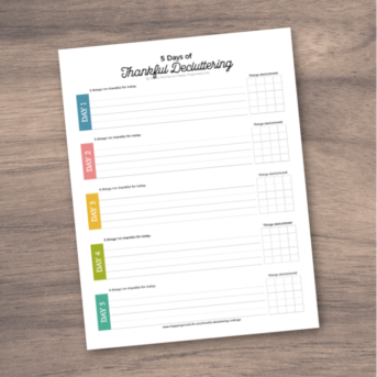 free decluttering printable paper