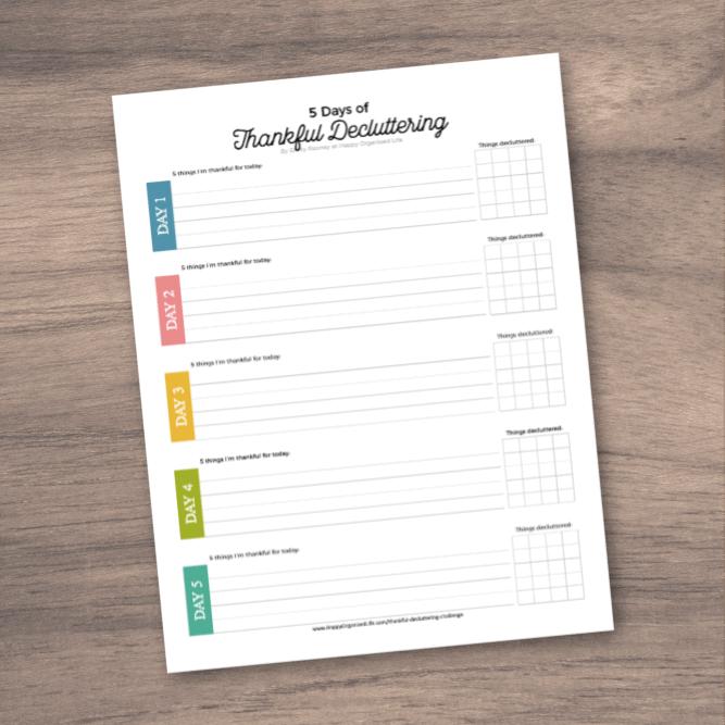 free decluttering printable paper